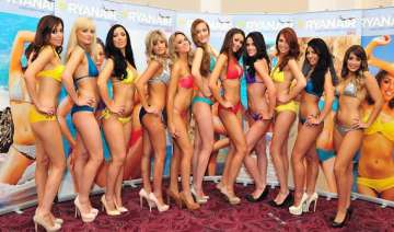 ryanair airhostesses strip off for charity -...