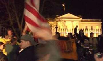 smoke bomb tossed over white house fence - India...