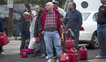 superstorm sandy new yorkers search for food...