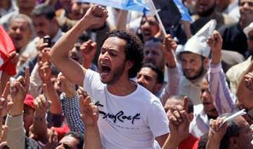 tens of thousands protest military rule in egypt...