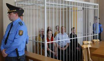 two ex presidential candidates jailed in belarus...