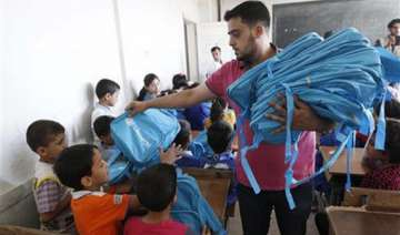 un relief efforts stepped up in syria for winter...