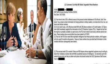 us nsa tapped phone calls of 35 world leaders...
