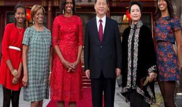 us first lady meets chinese president xi and wife...