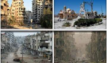 watch in pictures the ruins of war ravaged syria...