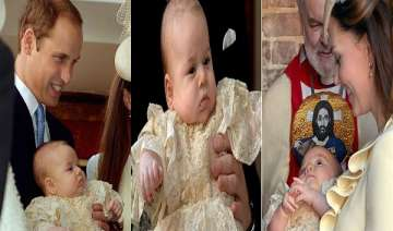 watch pics of christening ceremony of royal baby...