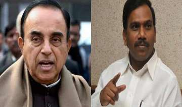 2g scam subramanian swamy seeks copy of a raja s...