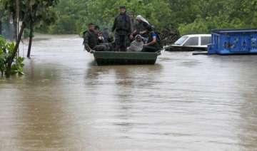 350 families moved from flooded haryana villages...