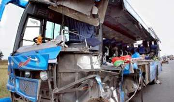 14 killed 23 injured as bus rams into truck -...