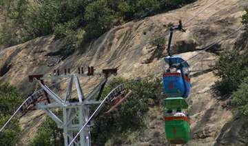 24 pilgrims trapped in two cable cars in tn...