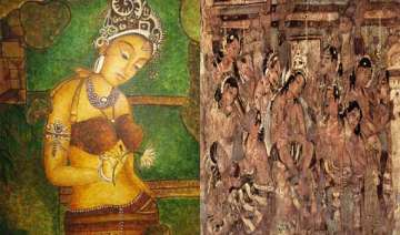 a glimpse of contemporary indian art mural...