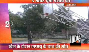 amu student dies while playing basketball - India...