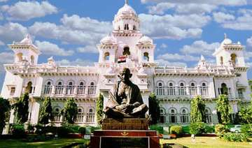 ap assembly adjourned thrice as oppn disrupts...