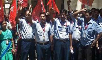 airport staff on hunger strike - India TV