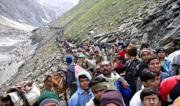 amarnath yatra begins in tight security inclement...