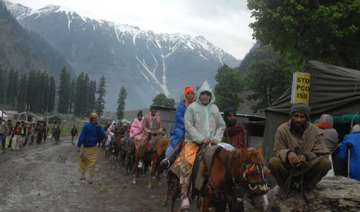 amarnath yatra suspended for second day - India TV