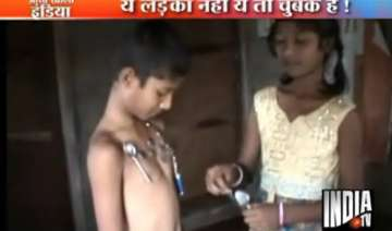 andhra boy has magnetic body attracts metal...