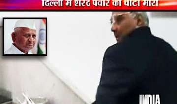 hazare justifies just one slap remark ncp...