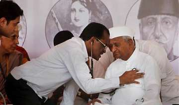 hazare recovering should not fast for one month...