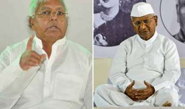 anna stir a flop says lalu - India TV