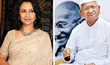 anna s fast was blackmail says sharmila tagore...