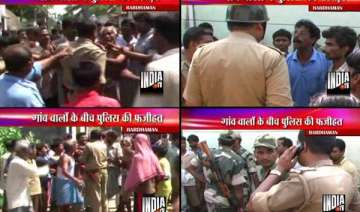 bengal villagers bash up policemen - India TV