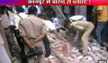 blast reduces house to rubble in kanpur woman...