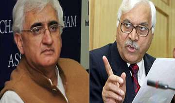 cec complains to pm against law minister khurshid...