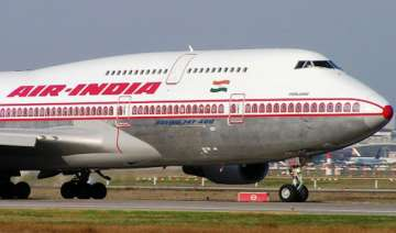 catering vehicle hits wing of air india plane in...