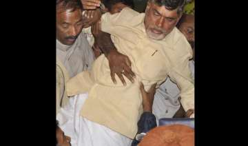 chandrababu naidu forcibly taken to hospital...