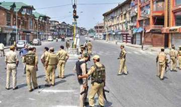 curfew in sopore separatist shutdown in srinagar...