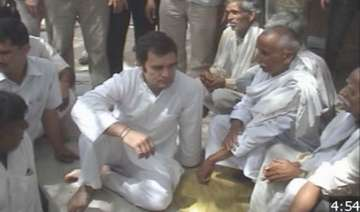 dalit card rahul gets dal roti night stay at a...