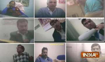exclusive india tv sting exposes 9 pwd staff...