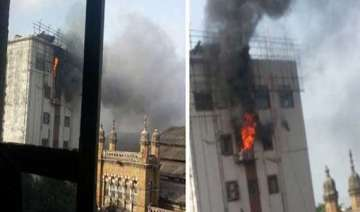 major fire at cst railway station building 35...