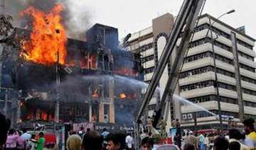 fire guts several shops in hyderabad shopping...