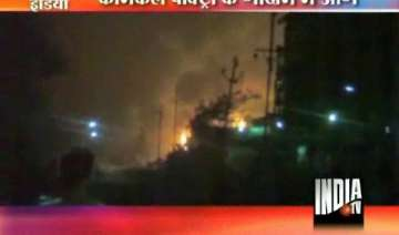 fire guts lakhs of rupees worth chemicals in navi...