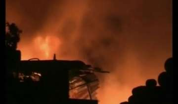 fire devastates factory near kanpur - India TV