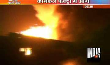 fire guts chemical factory in delhi - India TV