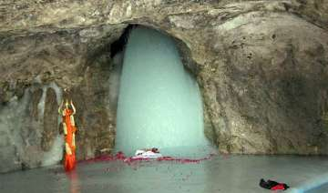 first pictures of holy amarnath ice lingam this...