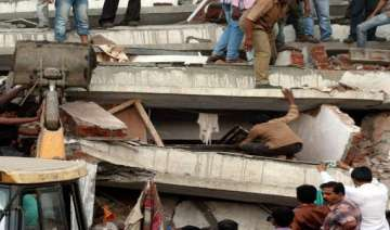 five injured in concrete slab collapse nearby...