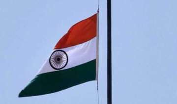 flags flown at half mast in jk for munde - India...