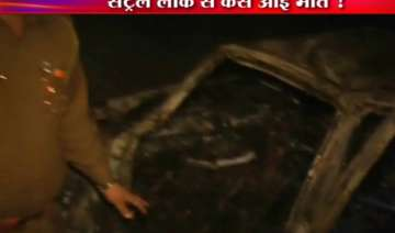 four youths burnt alive as indigo car dashes into...
