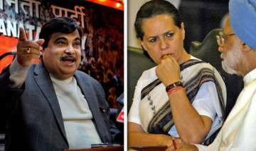 gadkari asks pm sonia tell us how to live on rs...