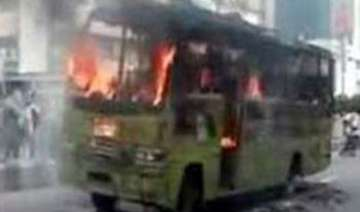 govt bus torched in meghalaya - India TV
