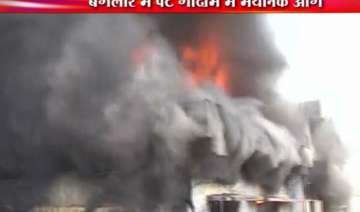 huge fire in berger paints godown in bangalore -...