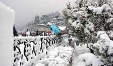 shimla manali wrapped up in snow again - India TV