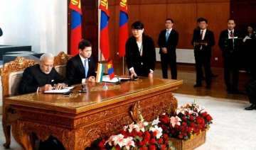 list of agreements signed between india mongolia...