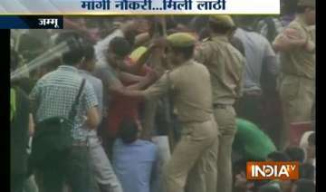 jammu lathicharge at territorial army recruitment...