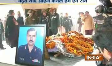 colonel m n rai s last rites performed - India TV