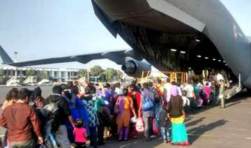 664 indians back from strife torn yemen 334 land...